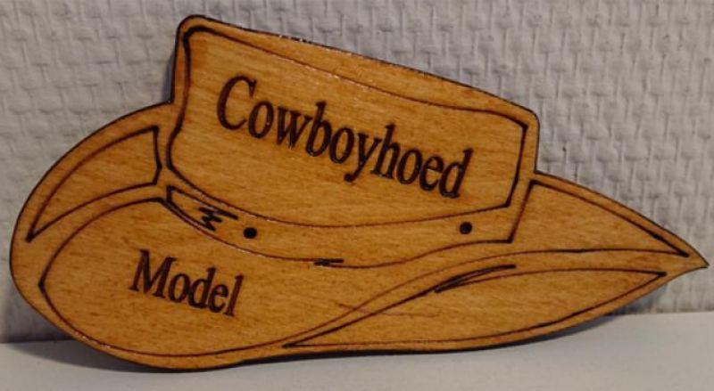 Cowboy hoed in hout