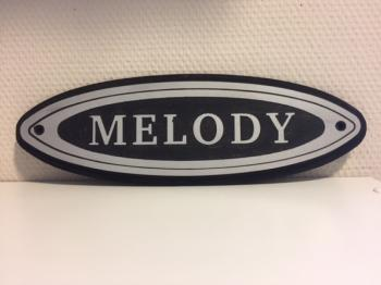 Naamplaat Model B in Zilver  MELODY