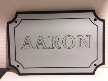 Naamplaat Model D zilver Aaron