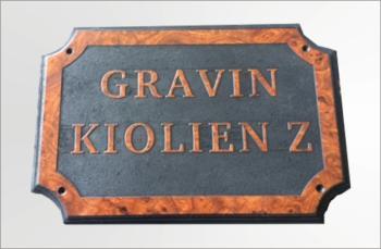 Naamplaat Model E Wortelnoten Glans Gravin Kiolien Z